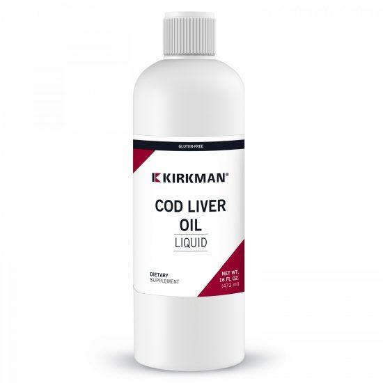 Cod Liver Oil 473 ml Tran- Suplementy diety Kirkman