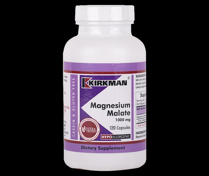 KIRKMAN Magnesium Malate 1000 mg (Hypoallergenic) 120 kaps (Kopia)