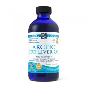 Kwasy tłuszczowe omega-3 - Olej z wątroby dorsza arktycznego - Suplementy diety Nordic Naturals