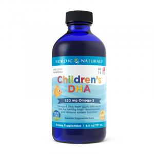 Kwasy tłuszczowe omega-3 dla dzieci - Olej z wątroby dorsza arktycznego - Suplementy diety Nordic Naturals