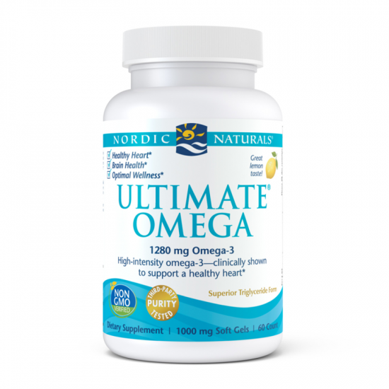Kwasy tłuszczowe omega-3 (EPA i DHA) z oczyszczonych olejów ryb morskich - Suplementy diety Nordic Naturals