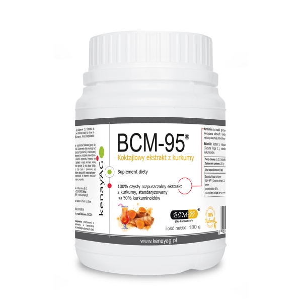 KenayAG Kurkuma – rozpuszczalny ekstrakt BCM-95® (Biocurcumin®) 180 g