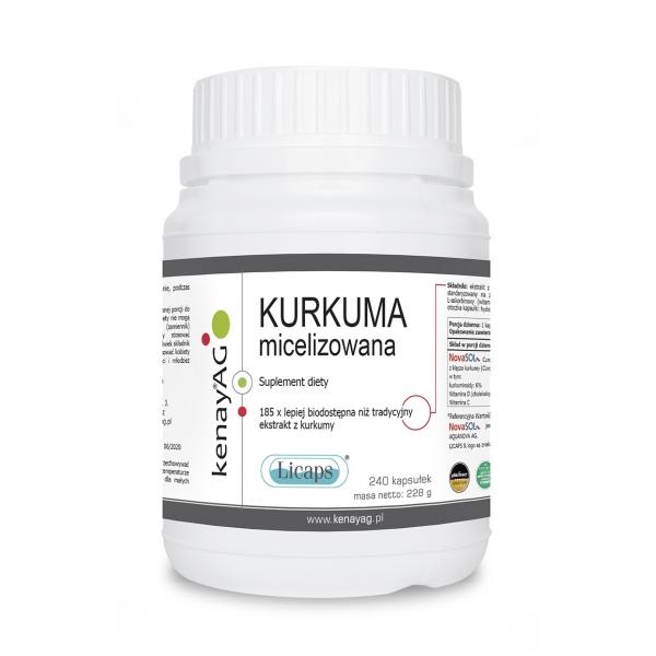 KenayAG Kurkuma micelizowana 240 kaps