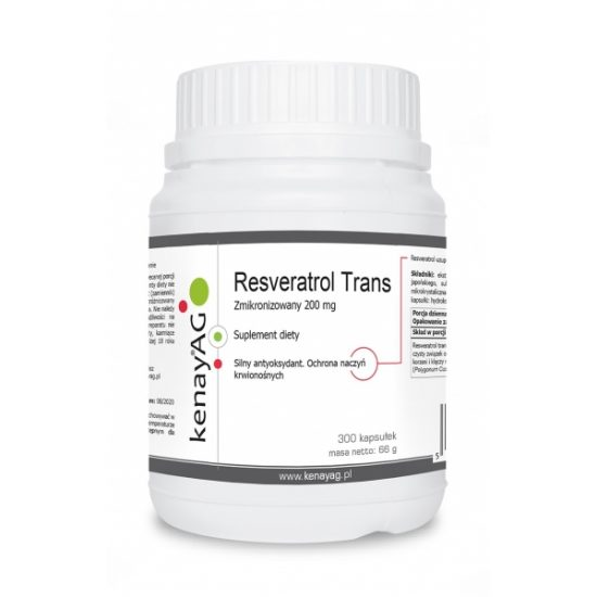 Resweratrol Trans - Suplementy diety kenayAG