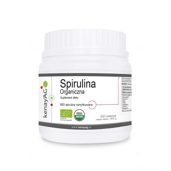 KenayAG Spirulina Organiczna 600 tabl