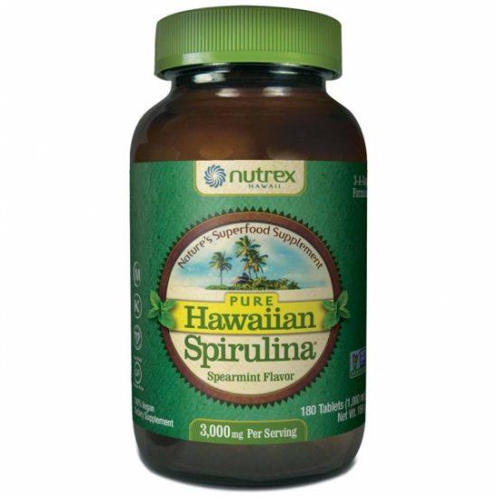 Hawaiian Spirulina® spirulina hawajska miętowa pacifica 1000 mg - Suplementy diety Cyanotech Corporation