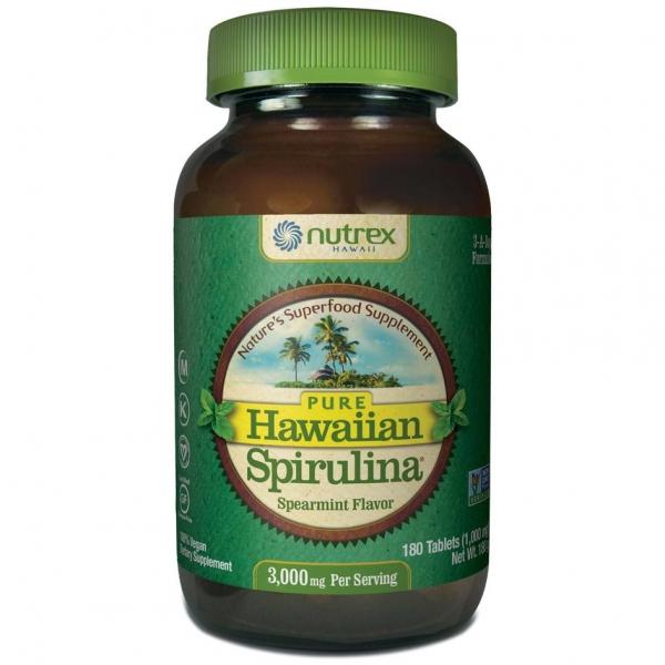 Cyanotech Spirulina Pacifica® hawajska miętowa 1000 mg 180 tabl