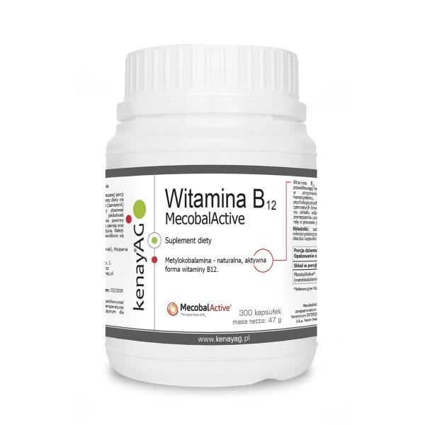 KenayAG Witamina B12 (metylokobalamina) MecobalActive® 300 kaps